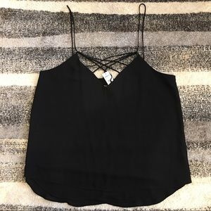NWT Express Black strappy tank top